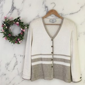 St John Sport by Marie Gray Striped Cardigan